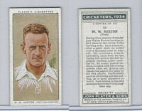 P72-82 Player Tobacco Card, Cricketers, 1934, #16 W.W. Keeton