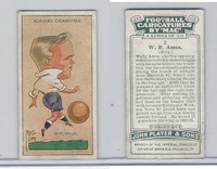 P72-98 Player, Football Caricatures By Mac, 1927, #2 W.R. Amos