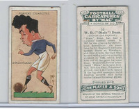 P72-98 Player, Football Caricatures By Mac, 1927, #10 W.R. Dixie Dean