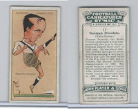 P72-98 Player, Football Caricatures By Mac, 1927, #11 Norman Dinsdale