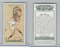 P72-98 Player, Football Caricatures By Mac, 1927, #12 John Fowler
