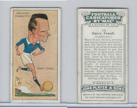 P72-98 Player, Football Caricatures By Mac, 1927, #13 Harry Foxall