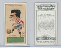 P72-98 Player, Football Caricatures By Mac, 1927, #14 G.H. Green
