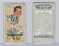 P72-98 Player, Football Caricatures By Mac, 1927, #16 Alex Jackson