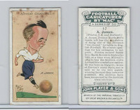 P72-98 Player, Football Caricatures By Mac, 1927, #17 A. James