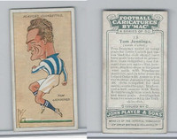P72-98 Player, Football Caricatures By Mac, 1927, #18 Tom Jennings