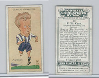 P72-98 Player, Football Caricatures By Mac, 1927, #20 F.W. Kean