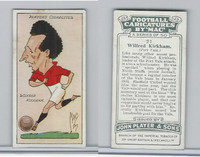 P72-98 Player, Football Caricatures By Mac, 1927, #21 Wilfred Kirkham