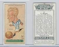P72-98 Player, Football Caricatures By Mac, 1927, #23 T. Magee