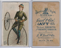N100 Duke, Bicycle & Trick Riders, 1890, Small Wheel Raised