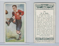 P72-100 Player, Footballers 1928, #24 B.O. Male