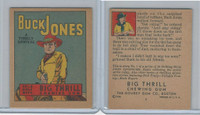 R24 Goudey, Big Thrill Booklets, 1934, Buck Jones, #1 A Timely Arrival