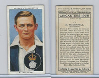 P72-158 Player Tobacco Card, Cricketers 1938, #17 N. McCorkell