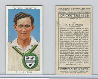P72-158 Player Tobacco Card, Cricketers 1938, #20 R.T.D. Perks