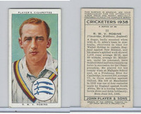 P72-158 Player Tobacco Card, Cricketers 1938, #22 R.W.V. Robins