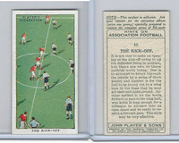 P72-165 Player, Hints On Association Football, 1934, #10 The Kick-Off