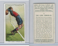 P72-165 Player, Hints On Association Football, 1934, #11 Long Throw-In