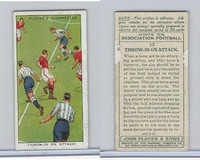 P72-165 Player, Hints On Association Football, 1934, #12 Throw-In On Attack
