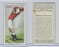 P72-165 Player, Hints On Association Football, 1934, #13 Defensive Throw-In