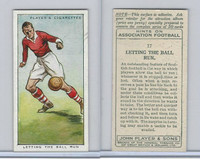 P72-165 Player, Hints On Association Football, 1934, #17 Letting The Ball Run