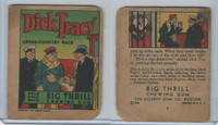 R24 Goudey, Big Thrill Booklets, 1934, Dick Tracy, #4 Cross-Country Race