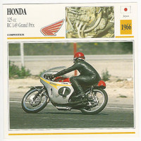 1992 Edito Service, Atlas, Motorcycle Cards, #01.08 Honda 125 cc RC 149