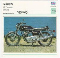 1992 Edito Service, Atlas, Motorcycle Cards, #01.09 Norton 850 Commando