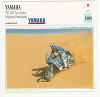 1992 Edito Service, Atlas, Motorcycle Cards, #01.11 Yamaha 750 YZE Paris