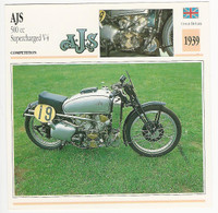 1992 Edito Service, Atlas, Motorcycle Cards, #01.12 AJS 500 cc Supercharged