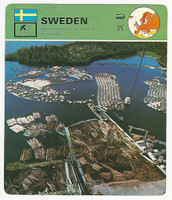 1978 Edito Service, World Cards, #01.01 Sweden, Log Sorting