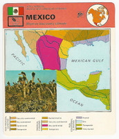 1978 Edito Service, World Cards, #01.02 Mexico, Map