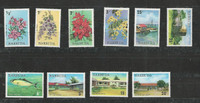 Barbuda, Postage Stamp, #170-174, 178-181 Mint NH, 1974, Flower, Fish, JFZ