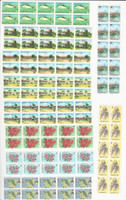 Barbuda, Postage Stamp, #170-175, 178-181 Block of 10 Mint NH, 1974,  JFZ