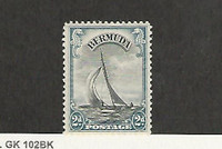 Bermuda, Postage Stamp, #109 Mint LH, 1938 Sailboat, JFZ