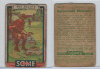 R26 Goudey, Boy Scouts, 1933, #20 Homemade Moccasins