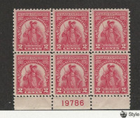 United States, Postage Stamp, #657 Mint NH Block, 1929 Sullivan, JFZ
