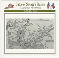 1995 Atlas, Civil War Cards, #46.05 Battle of Savage's Station, Virginia