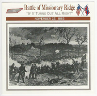 1995 Atlas, Civil War Cards, #46.06 Battle of Missionary Ridge, Tennessee