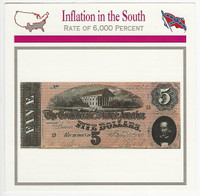 1995 Atlas, Civil War Cards, #46.18 Inflation in the South, Currency