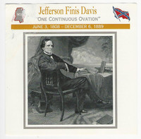 1995 Atlas, Civil War Cards, #47.02 Jefferson Finis Davis