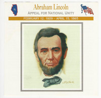 1995 Atlas, Civil War Cards, #47.03 President Abraham Lincoln