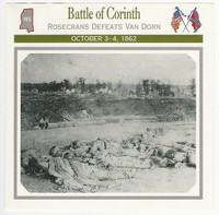 1995 Atlas, Civil War Cards, #47.04 Battle of Corinth, Mississippi
