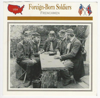 1995 Atlas, Civil War Cards, #47.20A Foreign Born Soldiers, Frenchmen