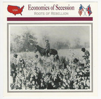 1995 Atlas, Civil War Cards, #48.01 Economics of Secession, Cotton Plantation