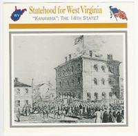 1995 Atlas, Civil War Cards, #48.02 Statehood West Virginia, Wheeling