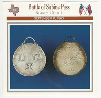 1995 Atlas, Civil War Cards, #48.07 Battle of Sabine Pass, Texas