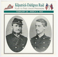 1995 Atlas, Civil War Cards, #48.10 Kilpatrick - Dahlgren Raid