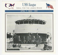 1995 Atlas, Civil War Cards, #48.11 USS Saugus, Navy Ship