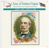 1995 Atlas, Civil War Cards, #48.18A Army Northern Virginia, Robert E. Lee