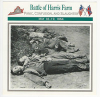 1995 Atlas, Civil War Cards, #49.09 Battle Harris Farm, Virginia